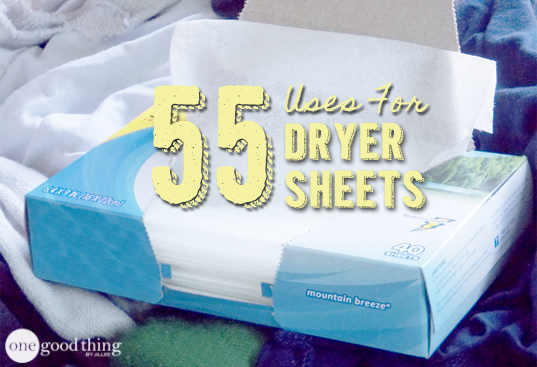 55 Ways to Reuse Re-Purpose and Recycle Dryer Sheets