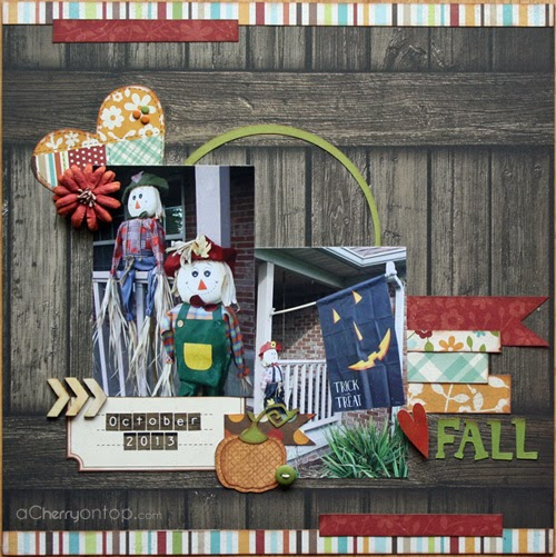 love fall scrapbooking layout
