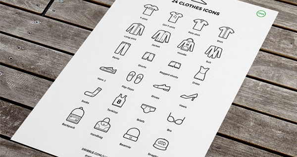 24 Free Clothes Icons by Lukas Jurik