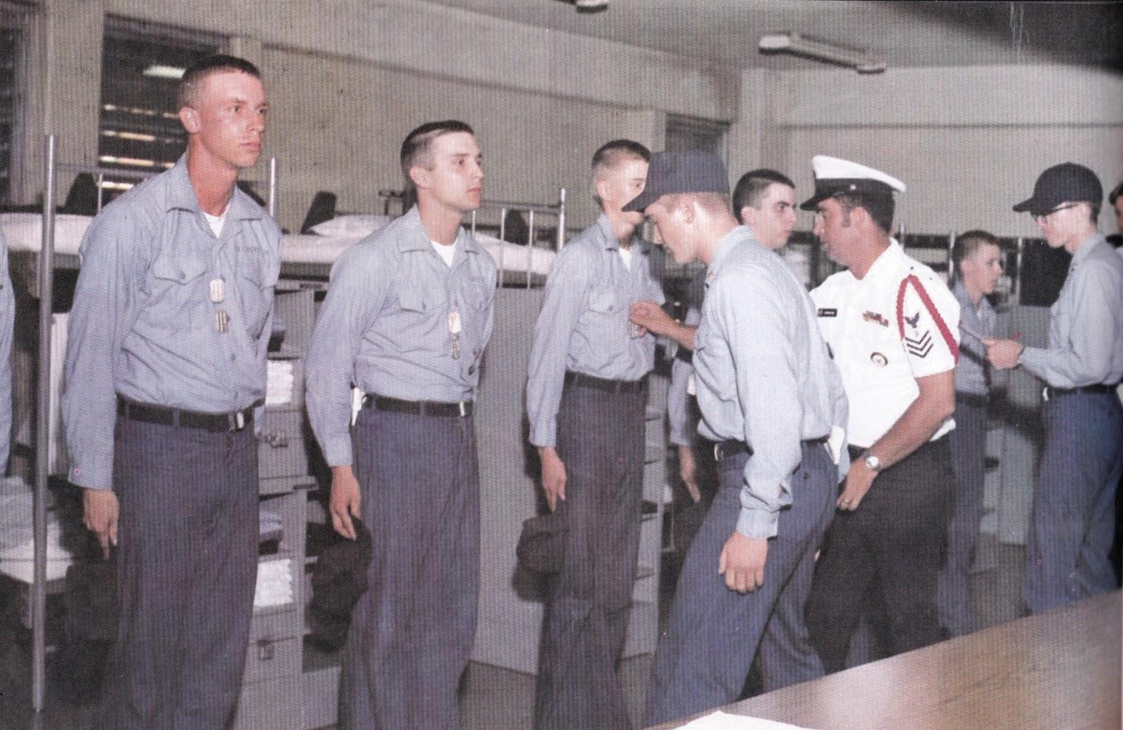 Tommy Mondello navy boot camp inspection Orlando, Florida