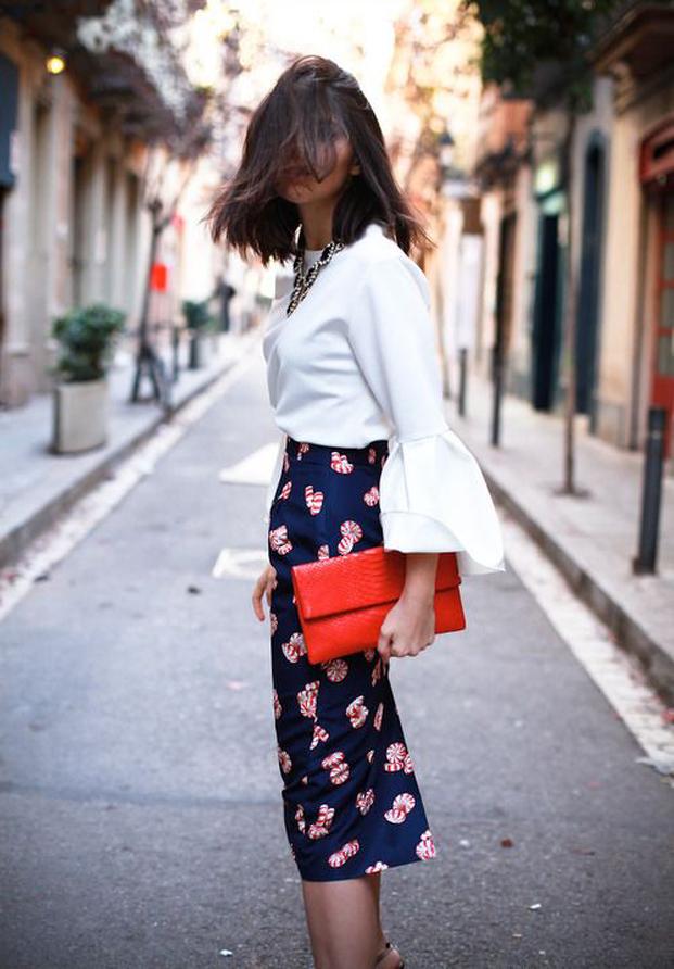 Street Style Falda Estampada