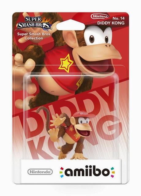 JUGUETES - NINTENDO Amiibo - 14 : Figura Diddy Kong  (19 diciembre 2014) | Videojuegos | Muñeco | Super Smash Bros Collection  Plataforma: Wii U & Nintendo 3DS