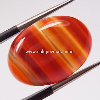 Batu Permata Natural Agate Motif