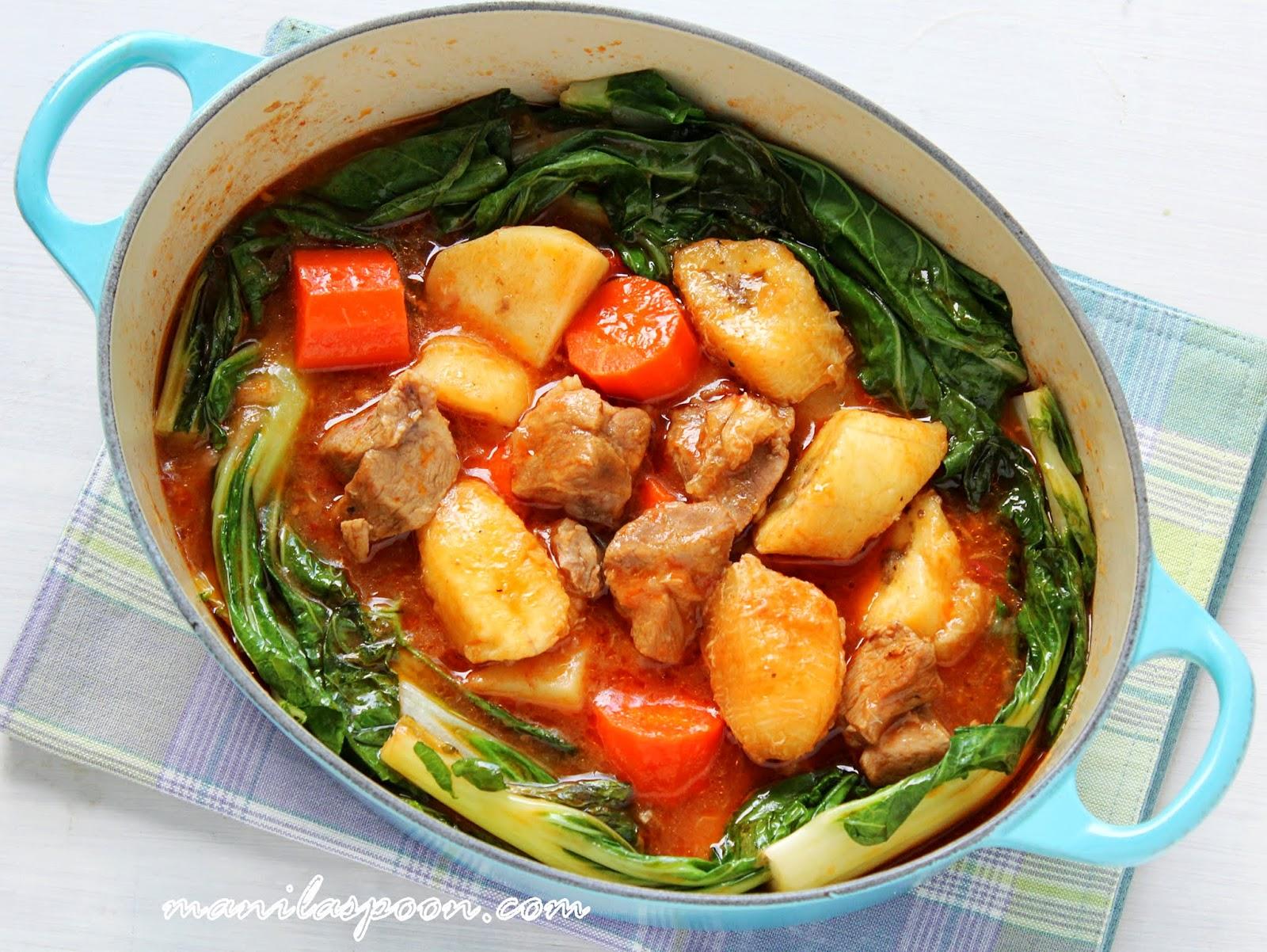 Pochero (Pork/Beef Stew with Saba/Burro Bananas) | Manila ...
