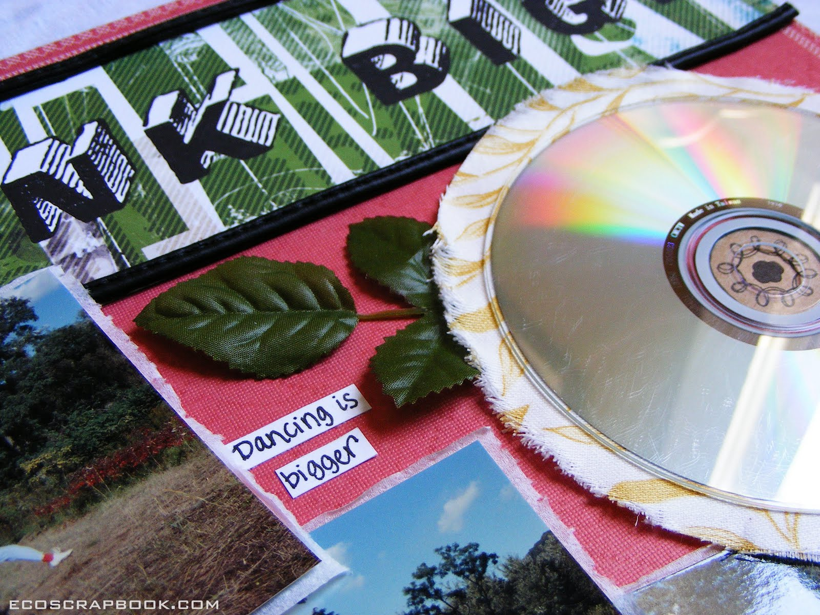 Scrapbook ideas recycled - Now Let S Go Back And Take A Look At The Layout Again And Count All The Things I Recycled