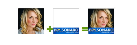 """Inserir o banner """"Bolsonaro Presidente"""" no seu perfil do Facebook."""