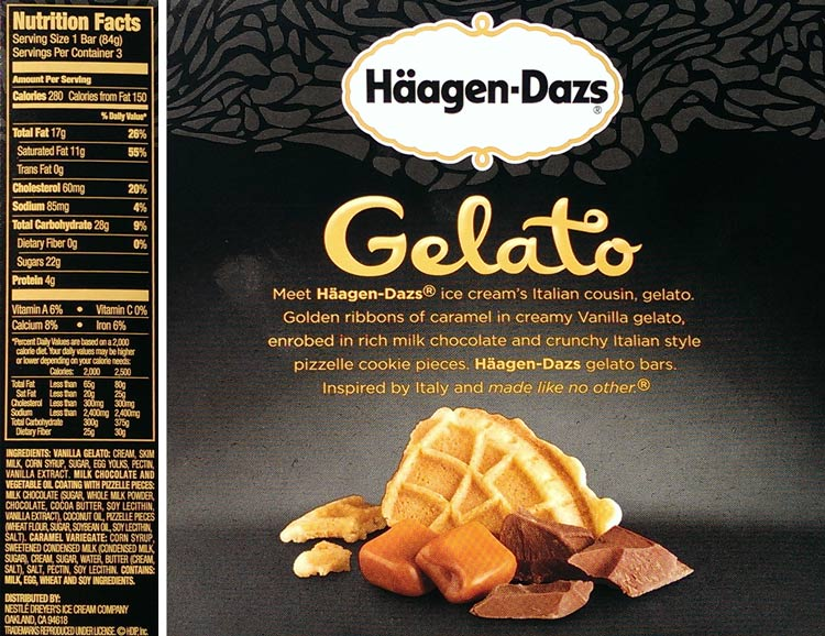 Haagen dazs gelato nutrition facts nutrition ftempo for Gelati haagen dazs