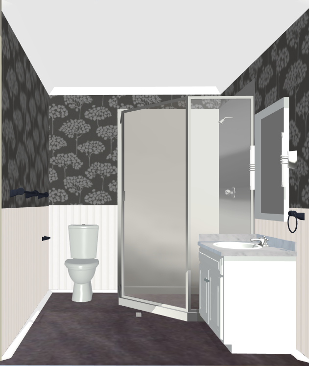 And Here I Was Yesterday In The Final Product Its A Tiny Bathroom So