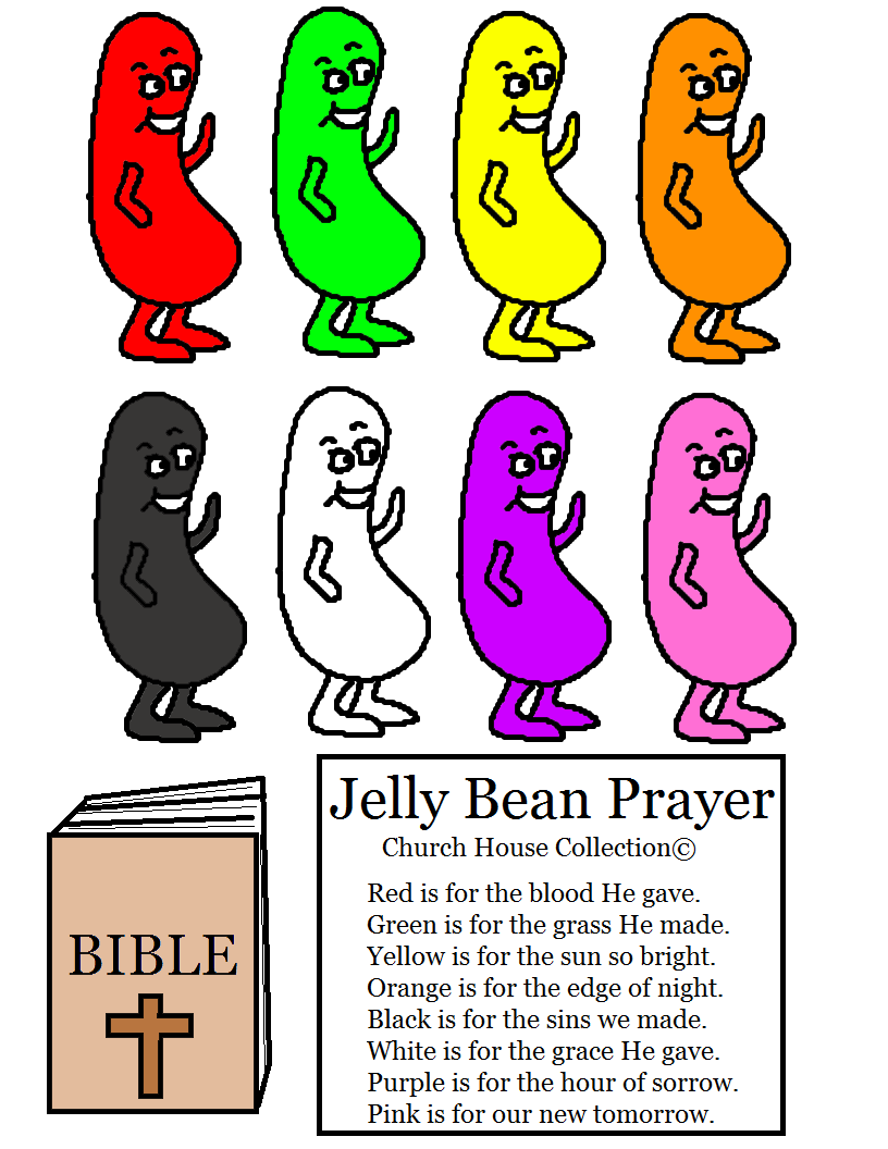 Jelly Bean Prayer Cutout