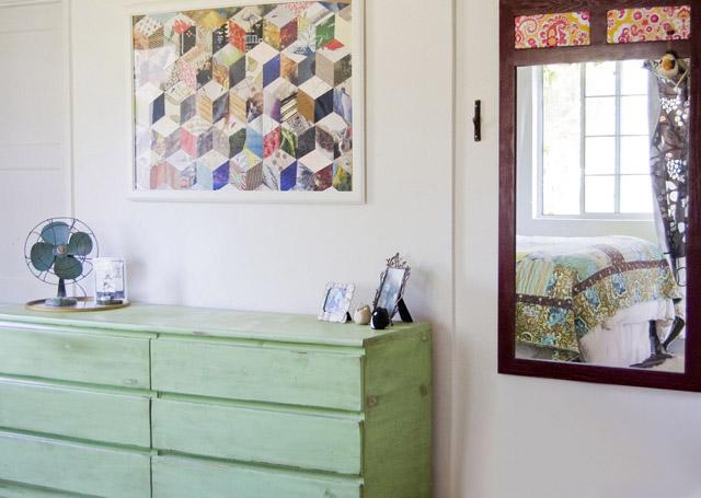 mueble verde de madera reciclada