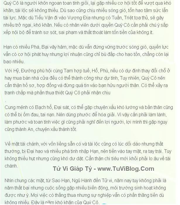 Giap Ty Nu Mang 2016