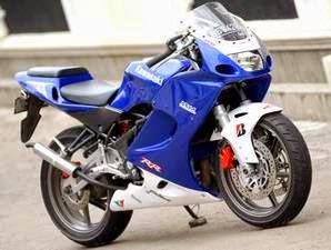 Gambar Foto Modifikasi Ninja RR 150 Sporty Biru Terbaru