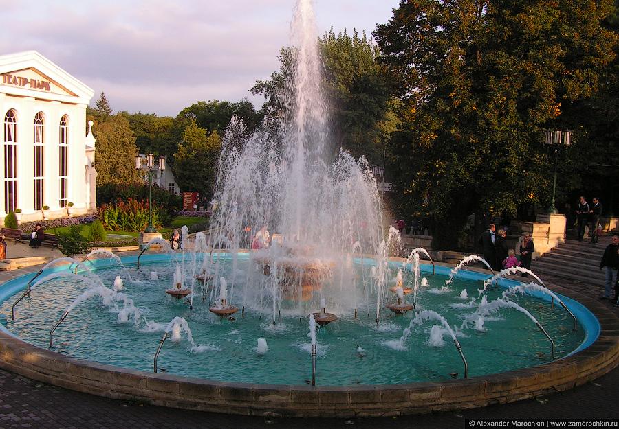 Главный фонтан Курортного парка Ессентуков