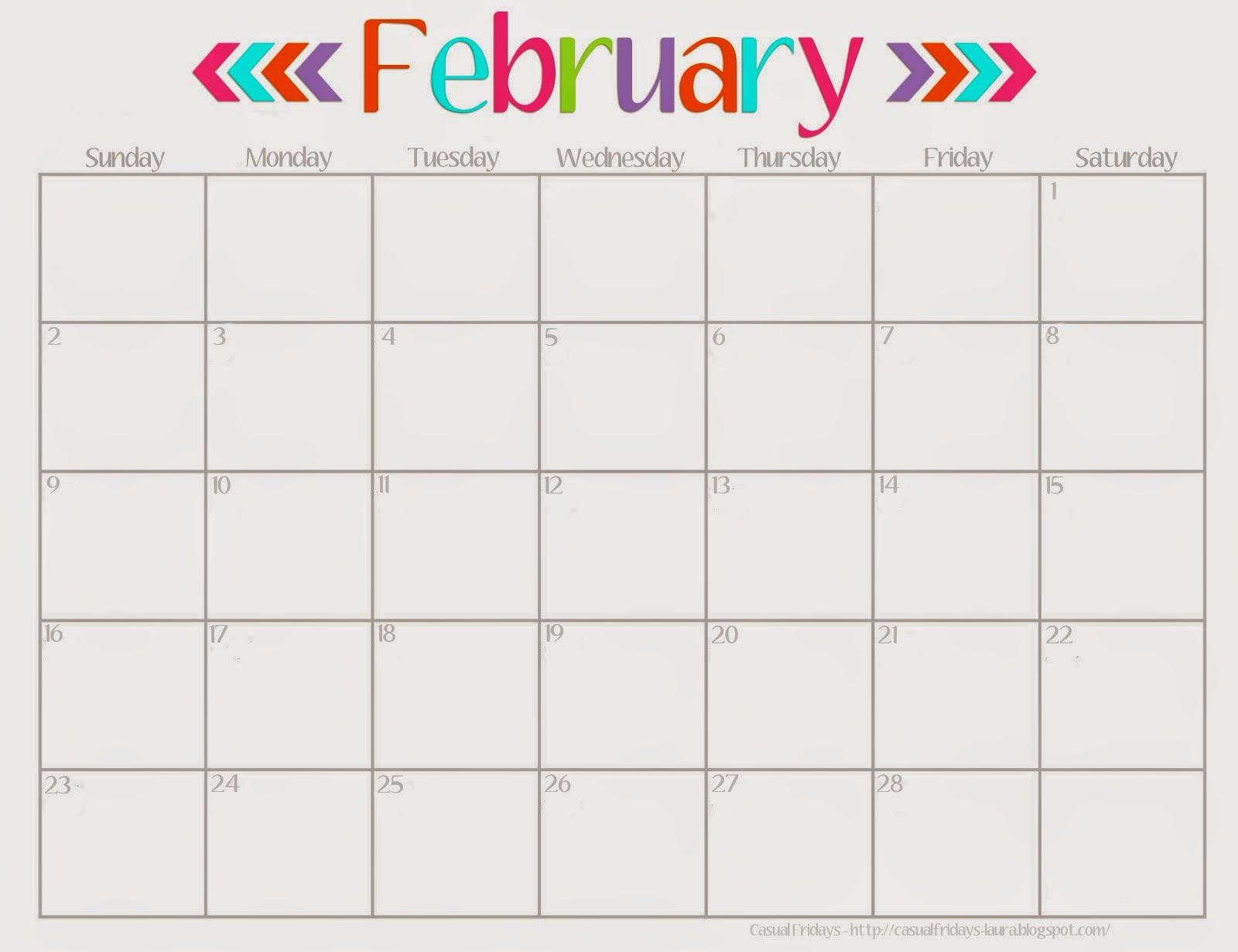 February 2015 Calendar Cute | New Calendar Template Site