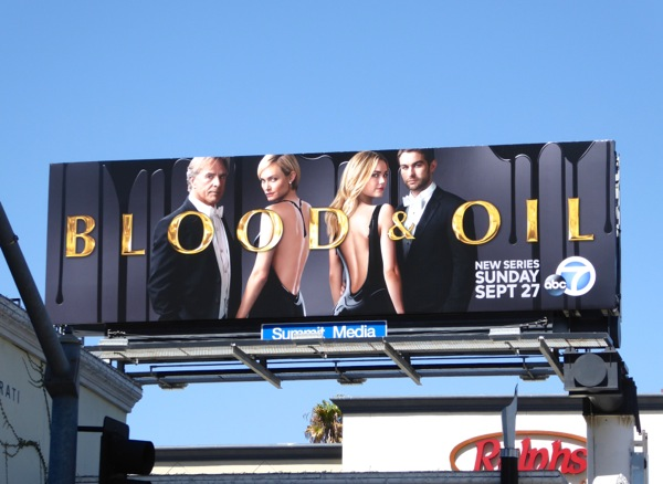 Blood and Oil series premiere billboard