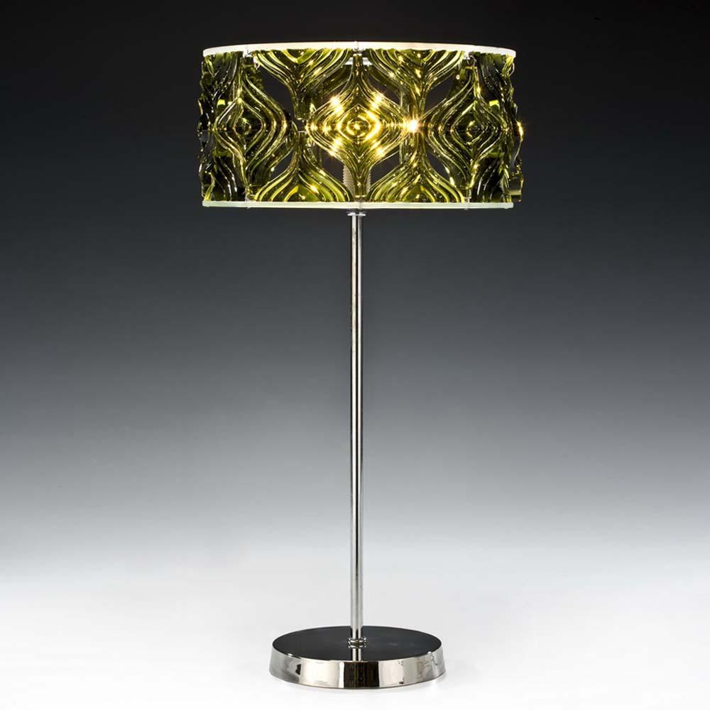 tischleuchten aus glas und kristall gr ne designer tischleuchte aus glas twiggy. Black Bedroom Furniture Sets. Home Design Ideas