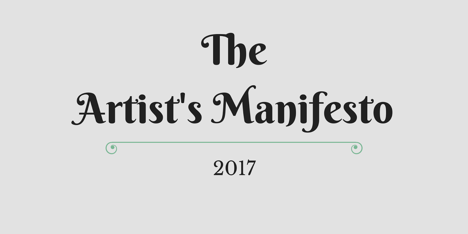 Read the Artists Manifesto - By Artist Larry G. Maguire