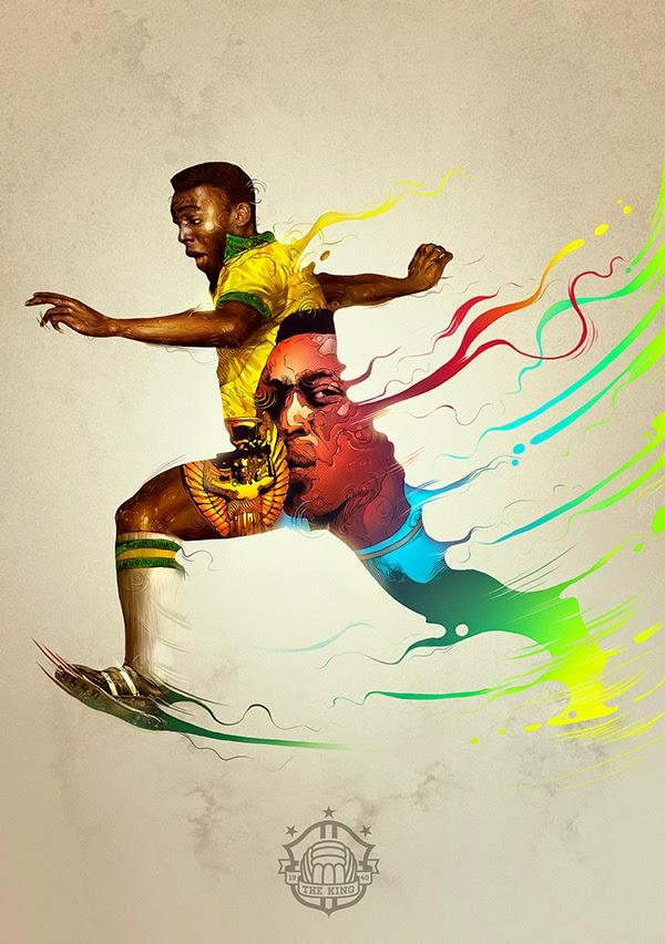 Iconos del deporte ilustrados por Raúl Urias