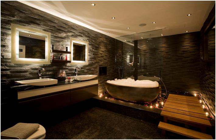 luxury bathroom suite design