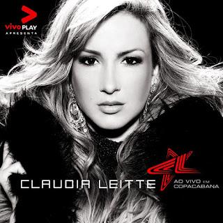 """Capa do disco """"Claudia Leitte ao Vivo em Copacabana"""", lançado em 2008."""