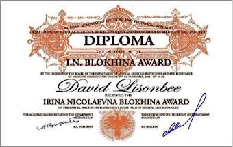 David Lisonbee Penerima I.N. Blokhina Award