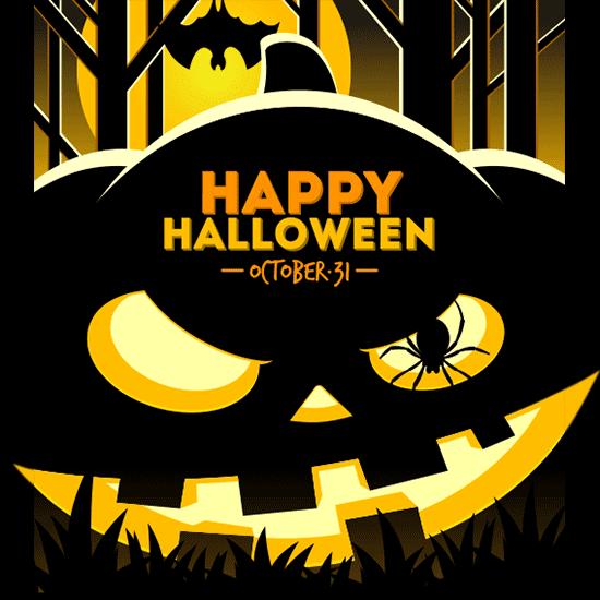 calabaza oscura de Halloween