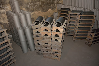 Roof tiles ready for firing