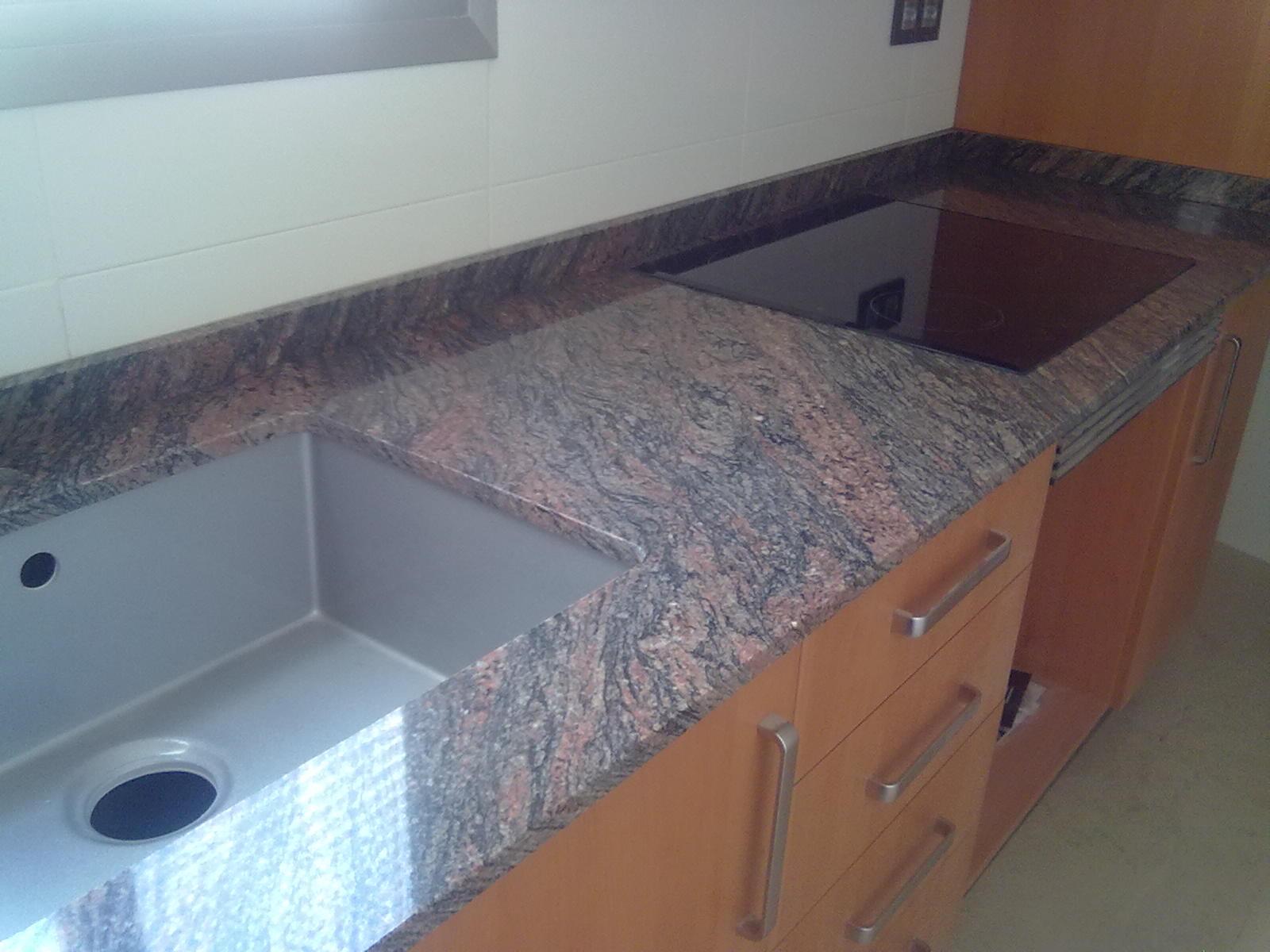 Marmoles vedat s l u encimera granito importado rosa - Colores de granito para encimeras de cocina ...