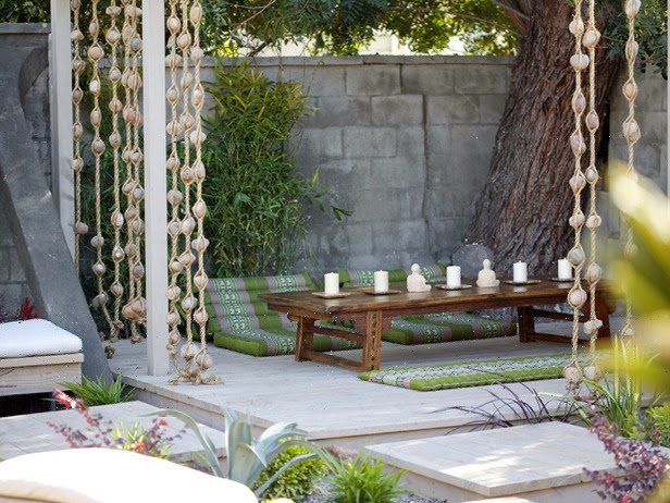 wooden outdoor furniture and candles | Vietnam Outdoor Furniture