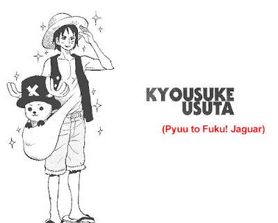 Gambar Luffy yang digambar oleh kyousuke usuta