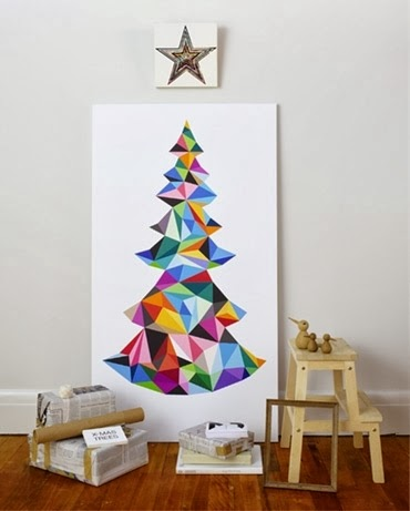 Christmas tree on walls