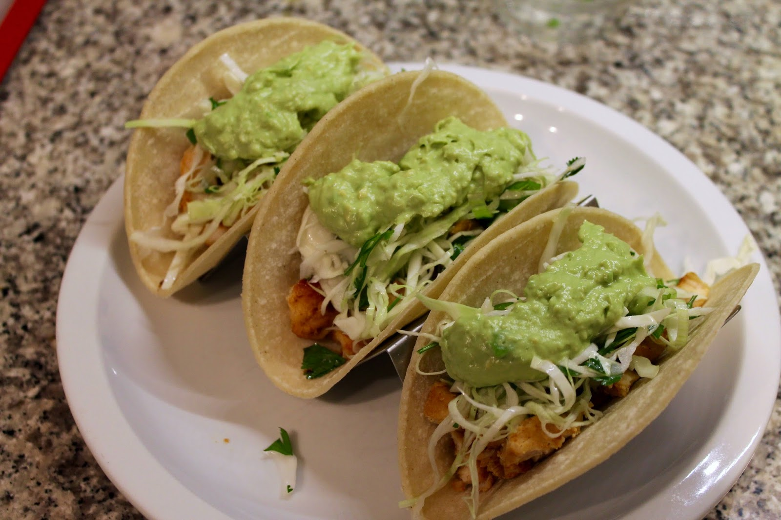 ... In / Dine Out: Ancho Chile Chicken and Slaw Tacos (Silent Interlude