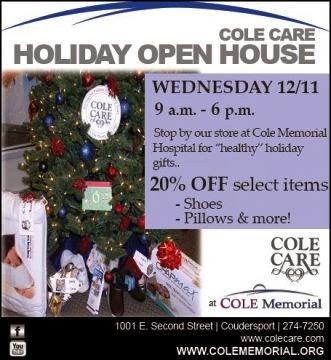 12-11 Holiday Open House At Cole Care
