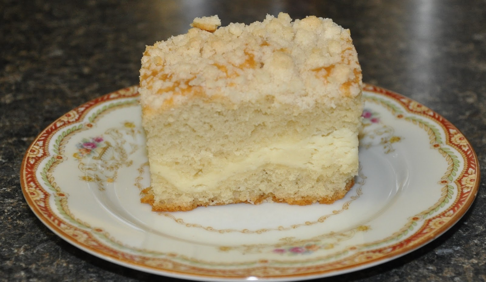 Cream Cheese Coffee Cake with Crumble Topping