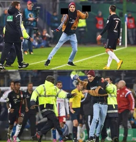 بالفيديو: مشجع مجنون يقتحم الملعب ويعتدي على النجم فرانك ريبيري