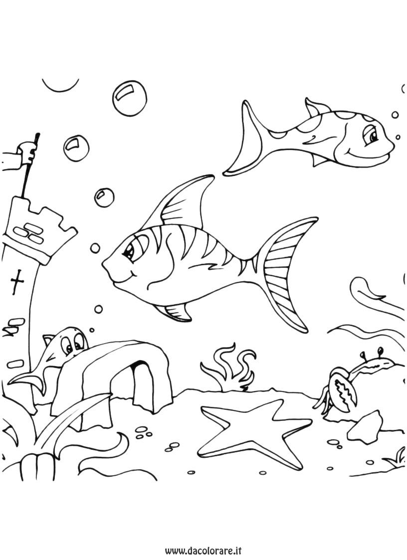 La classe dei balocchi disegni pesci for Pesciolini da colorare per bambini