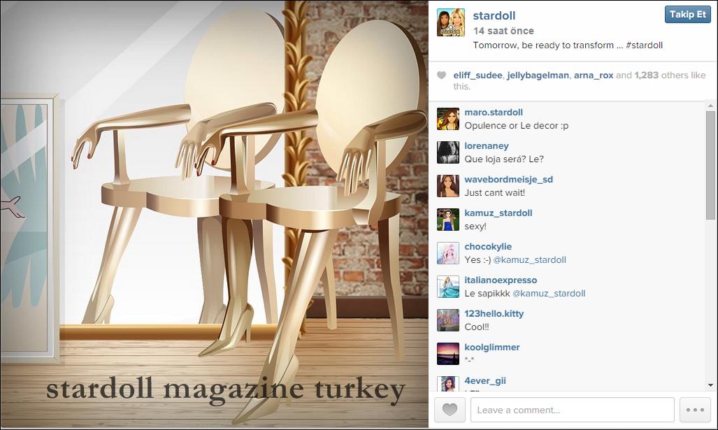 Dekor r nler gel yor stardoll magazine turkey for Dekor turkey