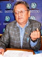 Amar Singh Rai, the chairman of Darjeeling municipality