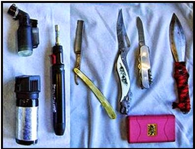 All Discovered In One Passenger's Bag at ROA Torch Lighters, Stun Gun, Knives