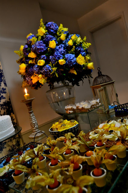 decoracao casamento rustico azul e amarelo:Casada e Apaixonada: Decoração Azul e Amarelo