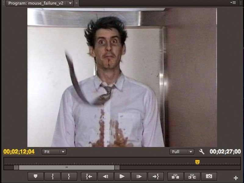 Editing the Mouse Failure using Adobe Premiere Pro in 480p SD.