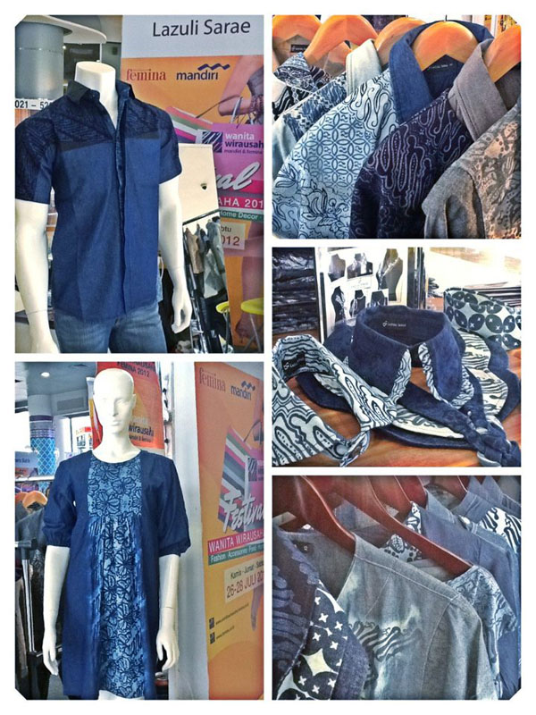 Batik on Denim by Lazuli Sarae