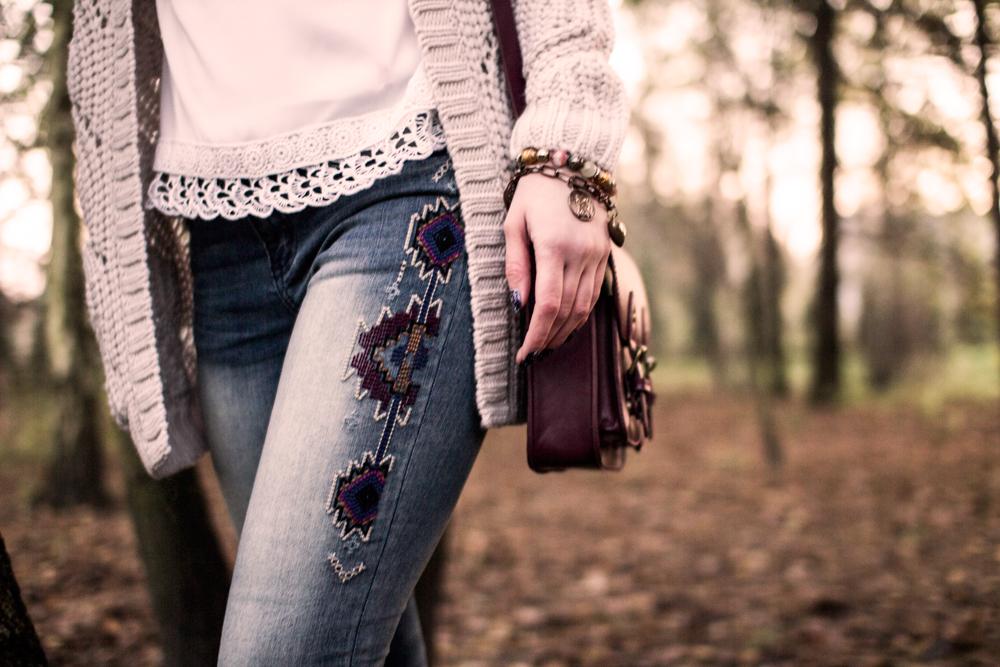 Blog modowy etno boho stylizacja ootd, outfit. Koronka.