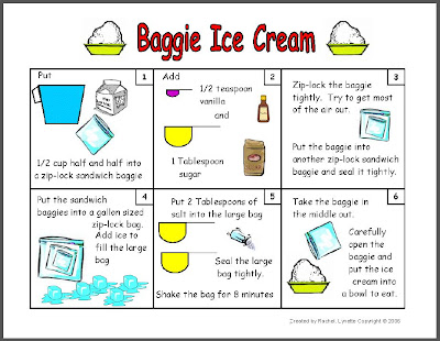 classroom freebies make baggie ice cream with your students. Black Bedroom Furniture Sets. Home Design Ideas