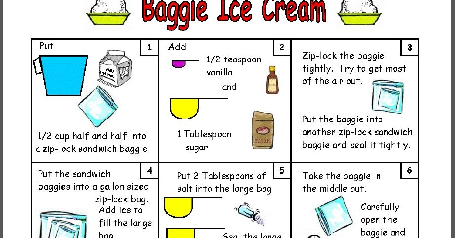 how to make vanilla ice cream in a bag