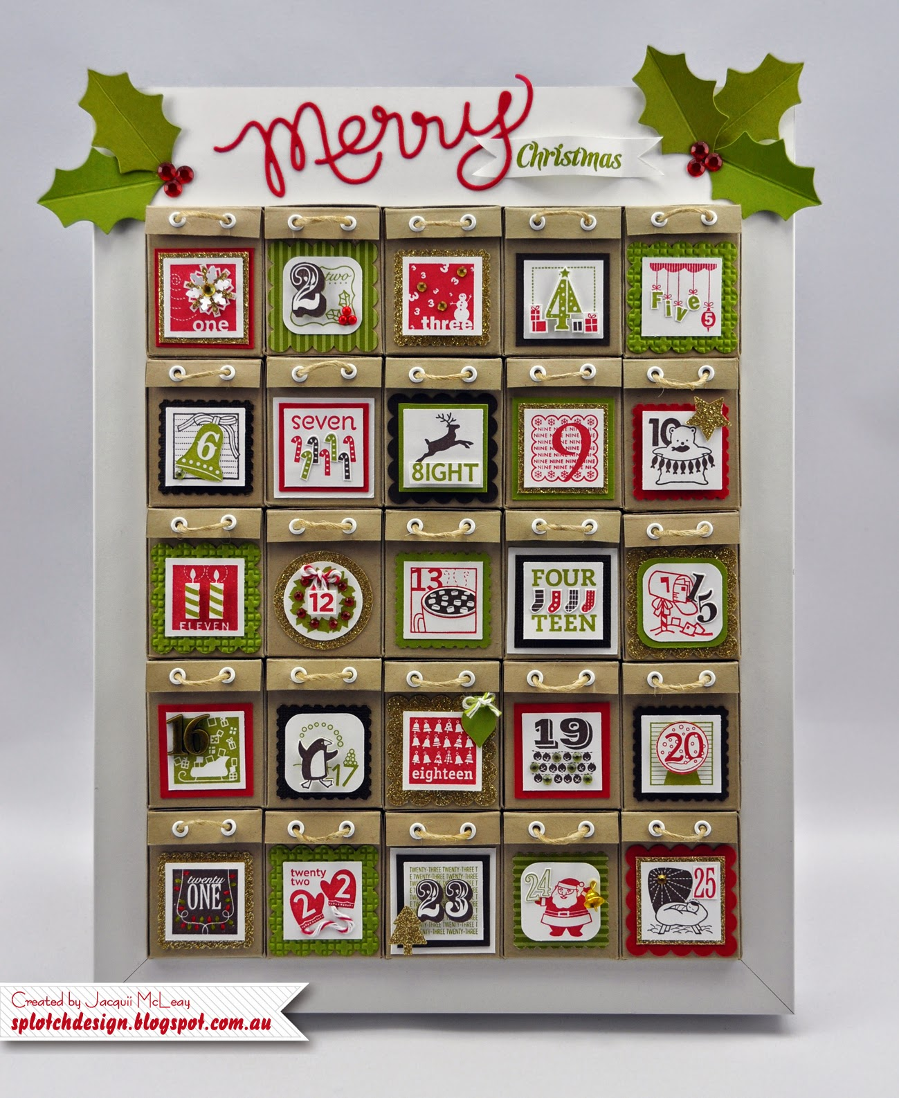 Typography Advent Calendar : Splotch design independent stampin up demonstrator