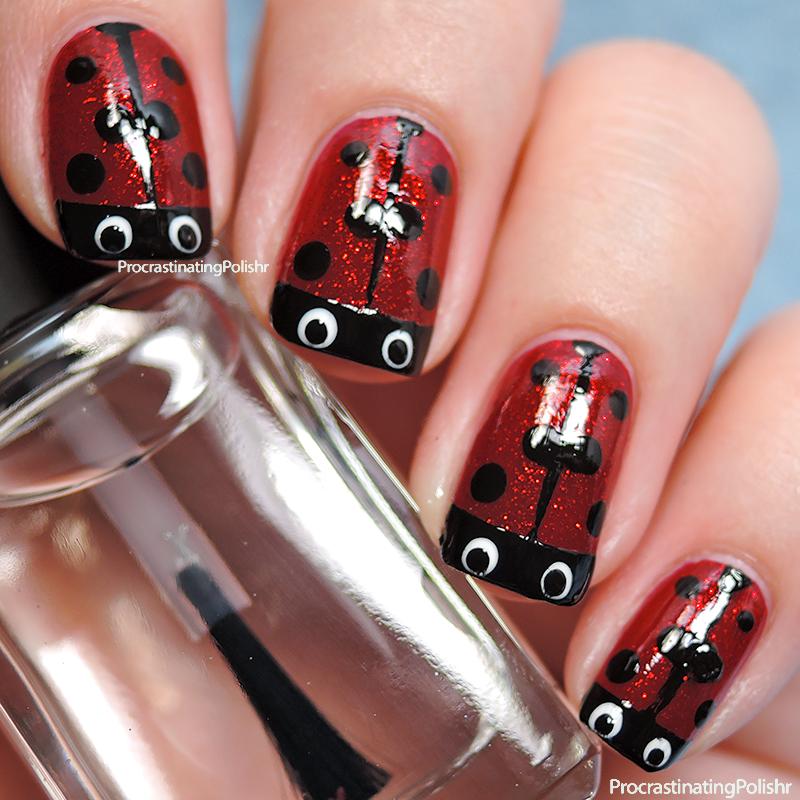 Ladybird Nail Art Tutorial Procrastinating Polishr