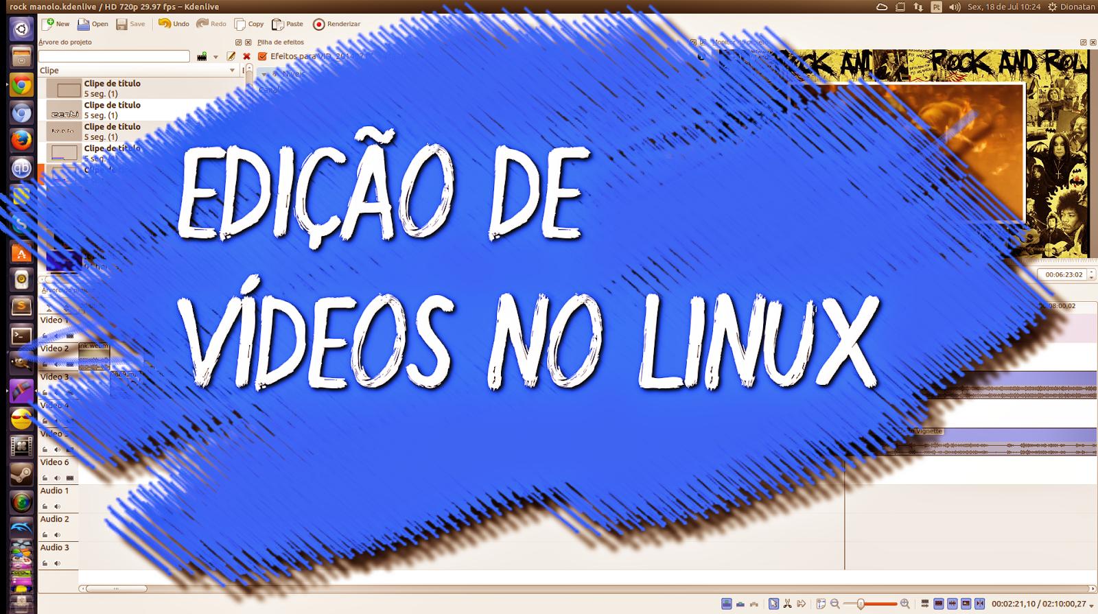 Edição de vídeo no Linux com Kdenlive