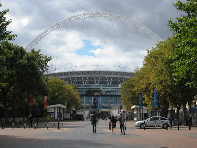 View of the great arch of Wembley Stadium