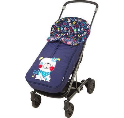 Tuc Tuc Night Picnic - Baby Girl Stroller Footmuff